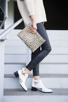 Louise Roe   White Boots for Spring   LA Streetstyle