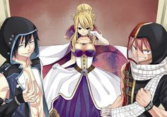 Fairy Tail - Natsu, Lucy et Grey Natsu Fairy Tail, Fairy Tail Lucy, Fairy Tail Ships, Art Fairy Tail, Fairy Tail Tumblr, Fairy Tail Amour, Anime Fairy Tail, Fairy Tail Comics, Fairy Tail Photos