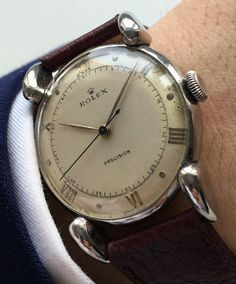 Rolex Ref 4417 Percision Centre Seconds, fluted lugs
