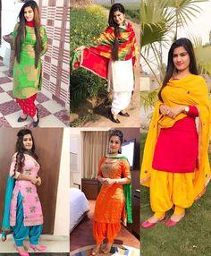 Shop salwar suits online for ladies from BIBA, W & more. Explore a range of anarkali, punjabi suits for party or for work. Punjabi Suits Party Wear, Punjabi Salwar Suits, Salwar Kameez, Dress Indian Style, Indian Outfits, Kaur B Suits, Patiyala Dress, Salwar Suits Simple, Patiala Suit Designs