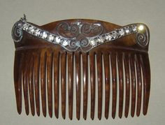 Vintage Victorian Hair Comb with Rhinestones by JanesJello on Etsy