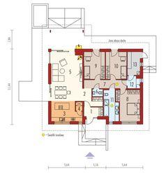 DOM.PL™ - Projekt domu ACX Mini 4 w. II CE - DOM UF1-11 - gotowy koszt budowy Bungalow House Plans, Small House Plans, Farmhouse Design, Modern Farmhouse, Residential Building Plan, Architectural Design House Plans, Home Technology, Dream House Exterior, Model Homes