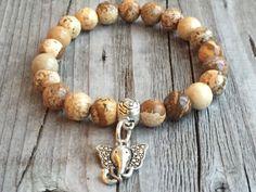 Half edelsteen armband Olifant armband Dames door KennlyDesign