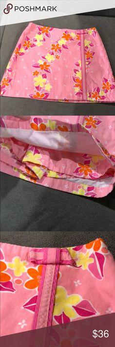 Lilly Pulitzer Girls skort size 8 Lilly Pulitzer Girls skort size 8.  Super cute girls skirt size 8.   23 inch waist,  12 inch length.  Excellent condition. Lilly Pulitzer Bottoms Skorts