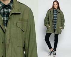 Army Jacket 80s Coat Military Commando Cargo Olive by ShopExile