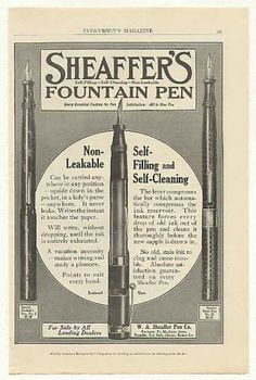 Sheaffer's Fountain Pen Student Steno Pens (1915)