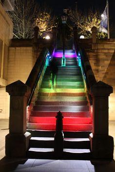 Sydney - City and Suburbs: Circular Quay, Moore Stairs, Vivid Sydney