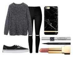 """Untitled #577"" by imagine-youtubers ❤ liked on Polyvore featuring beauty, Christian Dior, Kevyn Aucoin, Yves Saint Laurent, Vans and Toast"