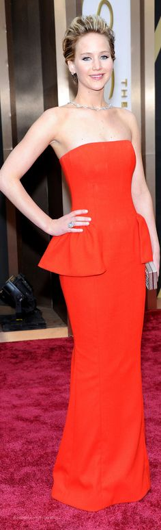 Jennifer Lawrence in Dior ~ Oscars 2014 | The House of Beccaria#