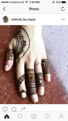 Henna trial for Beautiful Ananya ❤ Excellence is not a skill, it's an attitude. Mehndi Desgin, Mehndi Designs For Fingers, Latest Mehndi Designs, Bridal Mehndi Designs, Heena Design, Mehndi Tattoo, Henna Tattoo Designs, Henna Mehndi, Henna Art