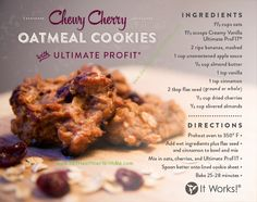 Oatmeal cookies!!! These look amazing❤️ #BetterThanJunkFood #ItWorks! http://sparrows.myitworks.com