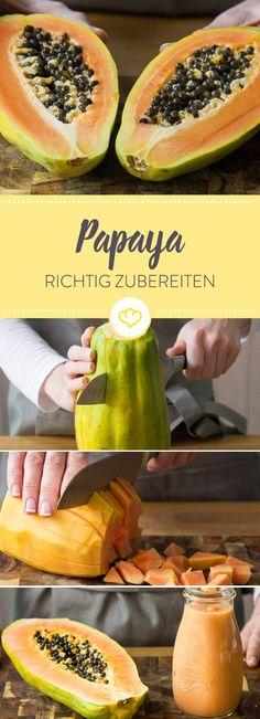Die Papaya ist ein exotisches Multitalent, denn sie kann einiges. Was genau und wie du sie richtig schneidest und zubereitest erfährst du hier.