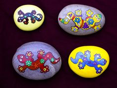 All my lizards, painted rocks