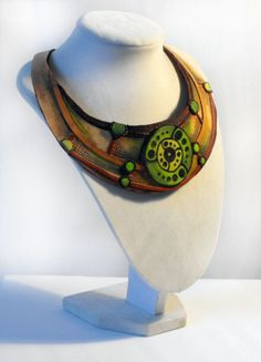 Crop circles leather necklace ❤ by julishland on Etsy