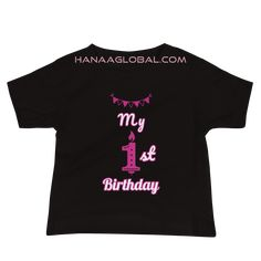 My 1st birthday Baby Girl Premium Tee | Bella + Canvas 3001T Make your baby feel extra special on her birthday with this cute design. 100% COMBED AND RING-SPUN COTTON* FABRIC WEIGHT: 4.2 OZ (142 G/M2) PRE-SHRUNK FABRIC Bella Canvas, Spun Cotton, Cute Designs, Fabric Weights, 2nd Birthday, Celebrations, Cotton Fabric, Ring, Tees