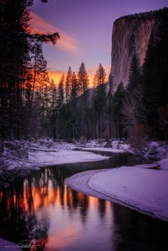 Winter Sunset in El Capitan, California ~ by Shumon Saito