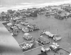 The storm takes its toll ( Baltimore Sun photo by William H. Mortimer ) During March 6 and 7, 1962, a storm raged along the East Coast from the Outer Banks of North Carolina to Long Island, N.Y. It caused extensive damage. At the time, property loss was placed at nearly $200 million. Aerial view of Ocean City at the height of flooding.