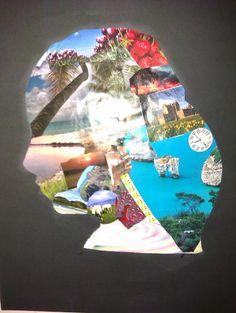 Inside my head: Foto maken van de kids, daarna met ipiccy bewerken, uitvergroten naar A3. En dan een collage met plaatjes die zij leuk vinden… Voila!