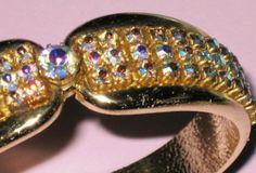 Bracelet rigide et strass aurora borealis années 50/60