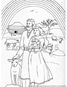 The prodigal son returns coloring page bible jesus and for Flood coloring pages