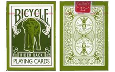 Bicycle Elephant Rider Back Playing Cards with Tsunami Relief Card. $8.99
