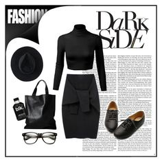 """Dark Side"" by nordicstyle ❤ liked on Polyvore featuring Le Ciel Bleu, Ryan Roche, London Edit, Ollio, women's clothing, women, female, woman, misses and juniors"