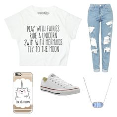 """""""Unicorn"""" by egloomis on Polyvore featuring Topshop, Casetify, Converse and Kendra Scott"""