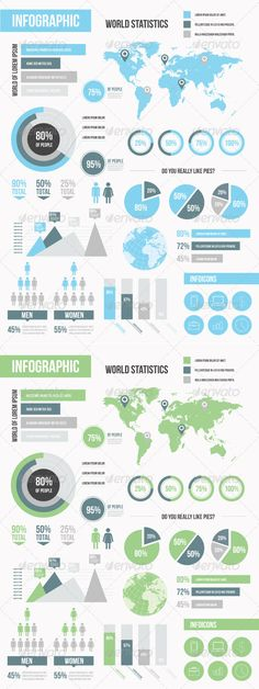 Modern Infographic Elements Set by haşim ekinci, via Behance