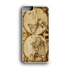 Nauctical Brown World Map Custom for iPhone Case and Samsung Case