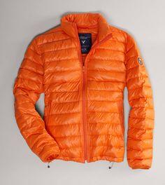 AE Lightweight Puffer Jacket in Orange