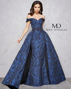 Couture Gowns by Mac Duggal Long Formal Gowns, Long Evening Gowns, Strapless Dress Formal, Formal Dresses, Club Dresses, Evening Party, Mac Duggal, Costura Fashion, Off Shoulder Evening Dress