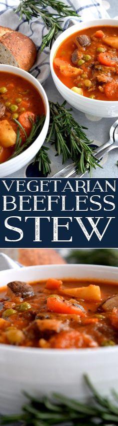 Vegetarian Beefless Stew - Lord Byron's Kitchen | vegan stew | vegan recipes