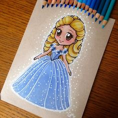 Ella (Chibis by Ltia_Chan @Instagram) #Cinderella