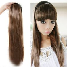 Girl Women's Sexy Fashion Straight Half-head Hair band Hair Extension Stylish Free shipping Drop shipping LX0032