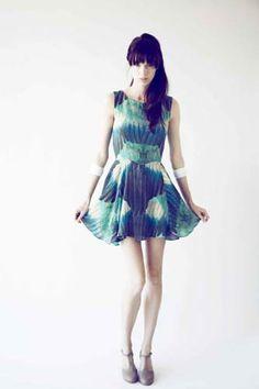 Samantha Pleet Flyaway Dress, silk. 2012