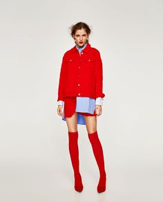 Image 1 of COLORED DENIM JACKET from Zara