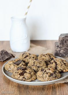 This Paleo Chocolate Chip Cookies recipe is my go-to. No one who tries these has any idea they are gluten-free, paleo, and refined sugar-free! Paleo Chocolate Chip Cookie Recipe, Paleo Chocolate Chips, Chocolate Desserts, Paleo Dessert, Dessert Recipes, Cookie Recipes, Paleo Recipes Easy, Skinny Recipes, Gluten Free Cookies