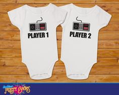 Chips & Salsa Twin t shirt, undershirt, one piece, bodysuit, under shirts Set Twin Baby Clothes, Twin Baby Boys, Twin Girls, Twin Babies, Cute Twins, Cute Babies, Baby Shirts, Onesies, Wonder Twins