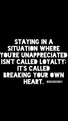 """Loyal "" people remember this.."