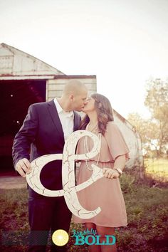 Ampersand Wedding Sign Save the Date Wedding by VintageShore