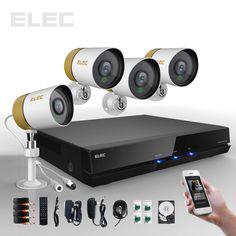 ELEC® 4 CH Channel 960H HDMI DVR 700TVL Outdoor CCTV Security Camera System 500G #ELEC