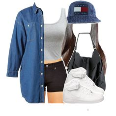 For the road by kiaratee on Polyvore featuring polyvore, fashion, style, :CHOCOOLATE, NIKE and Tommy Hilfiger