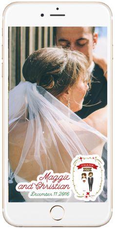 Custom Wedding Snapchat Filter www.geotagfilters.com Filter Design, Snapchat Filters, Charity, Wedding Ideas, Wedding Ceremony Ideas