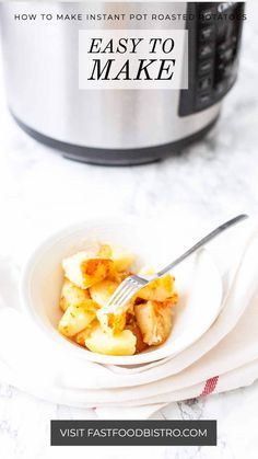 Yes, you can make roasted potatoes in the pressurecooker. Cook first, roast second. Instant Pot Roasted Potatoes are a great side dish. Easy to make and super fast. Want to try? Visit fastfoodbistro.com for the full recipe and instructions Best Side Dishes, Main Dishes, Roasted Potatoes, Pot Roast, Instant Pot, Tasty, Cooking, Breakfast, How To Make