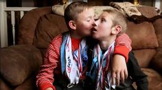 What a sweet sweet story! His brother has cerebral palsy, and together they compete in triathlons.