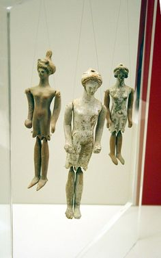Ancient Greek terracotta puppet dolls, century BC, National Archaeological Museum, AthensPuppet - Wikipedia, the free encyclopedia Ancient Greek Art, Ancient Greece, Ancient History, Art History, Historical Artifacts, Ancient Artifacts, Marionette Puppet, Art Antique, Puppet Making