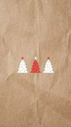 red & white Christmas tree vector | free iPhone 6/6s holiday wallpaper