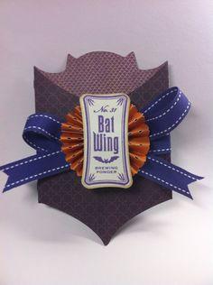 Bat card made using the NEW Close To My Heart Artiste cartridge by Melanie Brown! #Cricut
