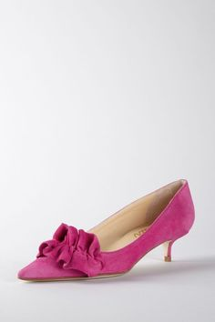 Fuschia Kitten Heel Shoes