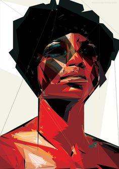 """reekloose """"black woman"""" digital art series"""